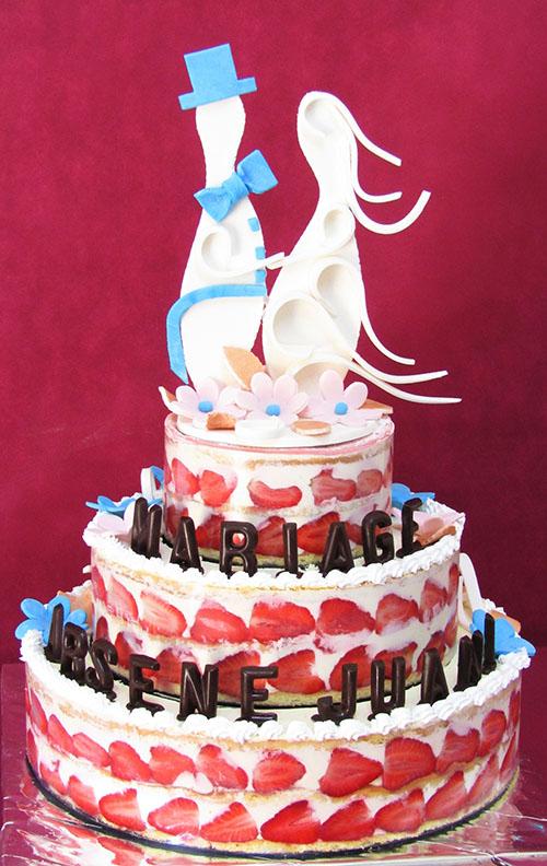 Wedding cake fraisier